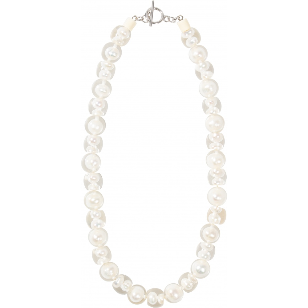 Bubbling Pearl 20 by Zsiska, necklace, white